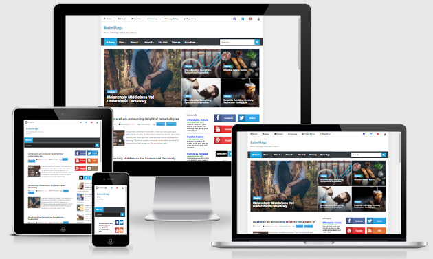 BabeMagz Fast and Responsive Blogger Template