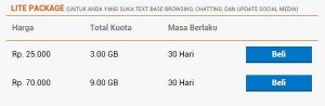 harga paket internet super bonus bolt lite Package