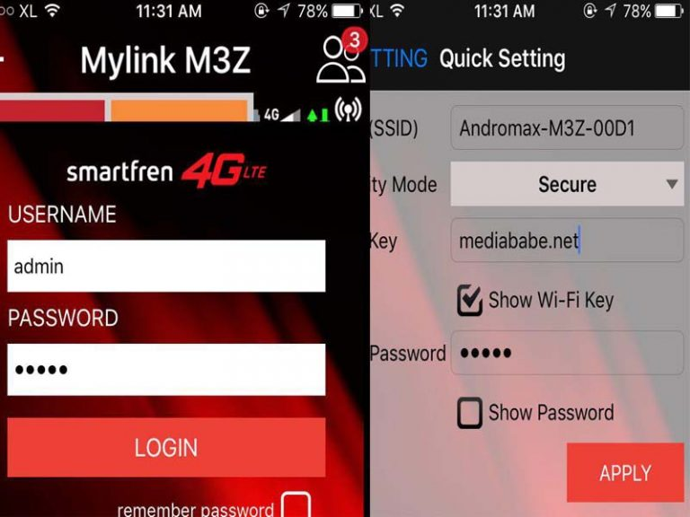 mengganti password andromax m3z dan m3y
