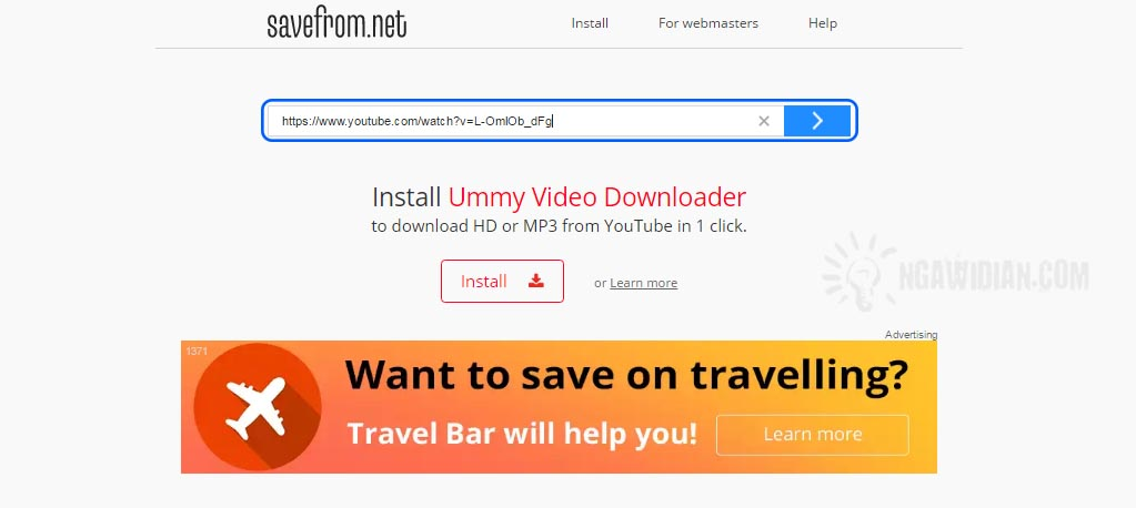 Cara Download Youtube Tanpa Software via Savefrom.Net
