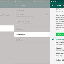 backup chat whatsapp google drive