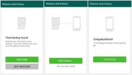 restore chat whatsapp google drive