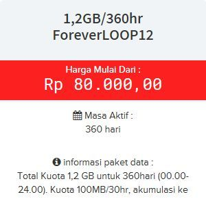 Paket internet ForeverLOOP12 Telkomsel Simpati 24 JAM