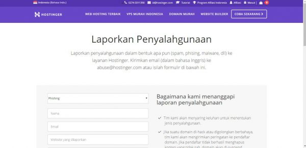 bantuan hostinger jasa web hosting indonesia
