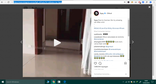 cara simpan video instagram ke pc