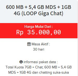 paket internet simpati Loop GIGA CHAT 4G 24 Jam