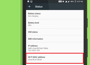 cara mengetahui mac address di hp android