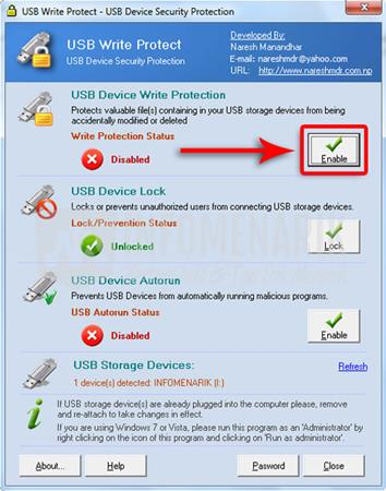 USB Write Protected