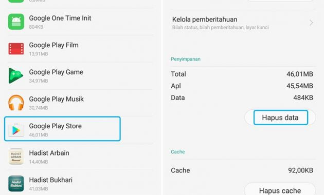Hapus data aplikasi android